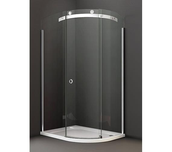 Merlyn 10 Series 1200 x 900mm Single Door LH Offset Quadrant Enclosure
