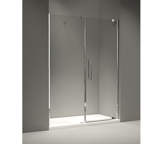 Merlyn 10 Series 1400mm Pivot Door And Inline Panel - M101291C