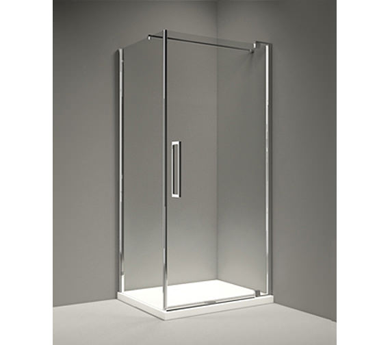 Merlyn 10 Series 800mm Clear Glass Pivot Shower Door