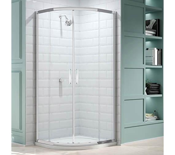Merlyn 8 Series 1000 x 1000mm 2 Door Quadrant Shower Enclosure-M83231