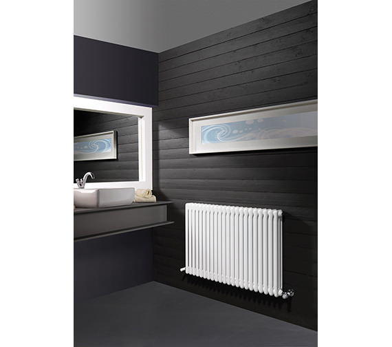 DQ Heating Modus 3 Column 500mm High White Radiator - 4 To 44 Sections