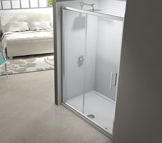Merlyn 6 series framed sliding shower door 1200mm for 1200mm shower door sliding