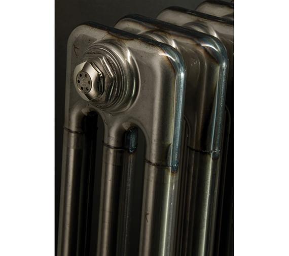 Additional image of DQ Heating Adara Varnish 3 Column Radiator - 592mm High