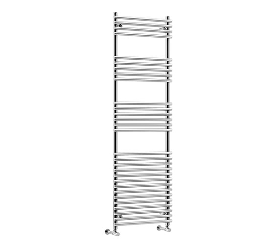 DQ Heating Altona 600 x 1200mm Tube-On-Tube Heated Towel Rail White