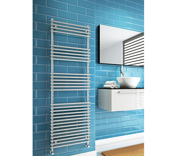 Additional image of DQ Heating Altona 500 x 1600mm Tube-On-Tube Heated Towel Rail White