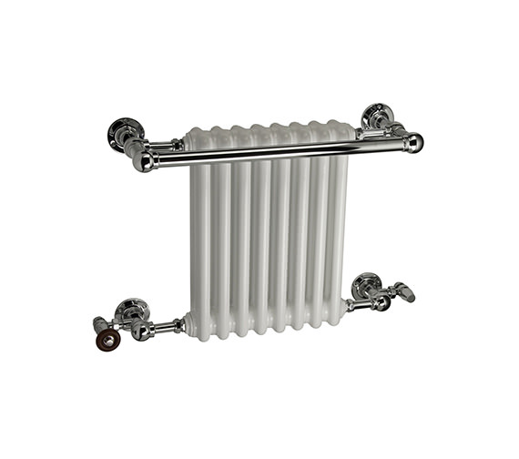 DQ Heating Ashill Traditional Wall Mounted Heated Towel Rail 509 x 514mm
