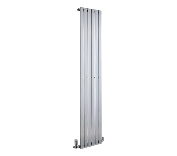 DQ Heating Axis Single Flat Panel Chrome Vertical Radiator 290mm x 1800mm