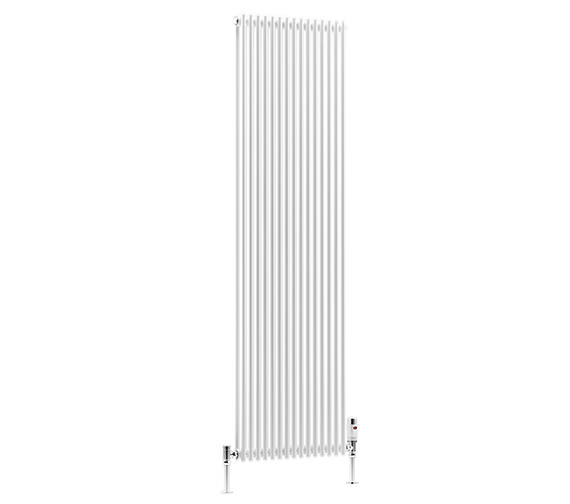 DQ Heating BKV16 Double Vertical 6 Sections Radiator White 170 x 1510mm