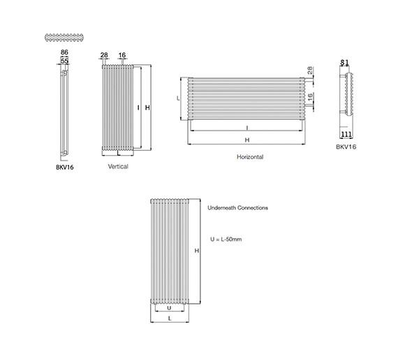 Technical drawing QS-V55141 / BKV16 150/6 V