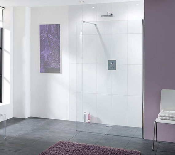 Lakes Coastline Cannes Walk In Shower Screen 900x2000mm - LK810-090S