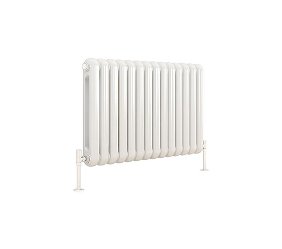 DQ Heating Cassius Horizontal White Designer Radiator 993 x 550mm