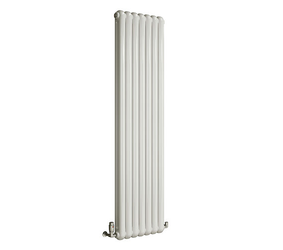 DQ Heating Cassius Vertical White Designer Radiator 370 x 1800mm