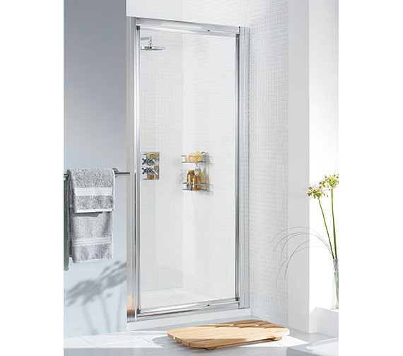 Lakes Classic Silver Framed Pivot Door 800 x 1850mm - LK1P080S