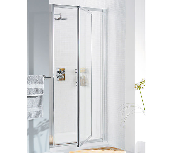 Additional image of Lakes Classic Silver Framed Pivot Door 700 x 1850mm