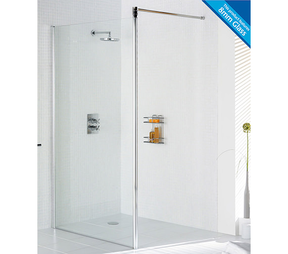 Lakes Classic Walk In Shower Screen 1200 x 1900mm Silver - LKSS1200S
