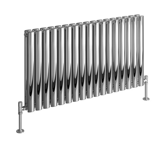 DQ Heating Cove 590 x 600mm Stainless Steel Double Horizontal Radiator
