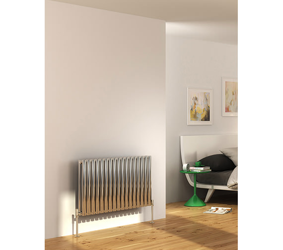 Additional image of DQ Heating Cove 590 x 600mm Stainless Steel Double Horizontal Radiator