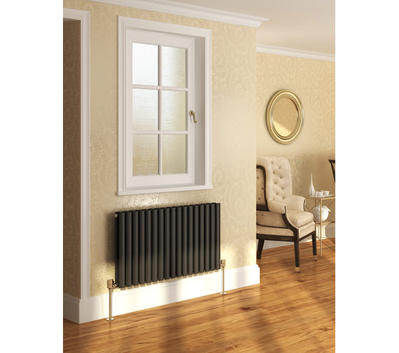 Additional image of DQ Heating Cove 590 x 550mm Double Sided Horizontal Radiator White