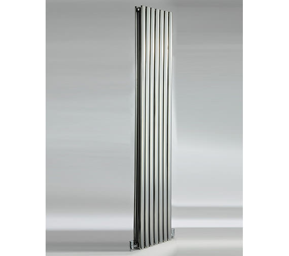 DQ Heating Cove 413 x 1800mm Stainless Steel Double Vertical Radiator