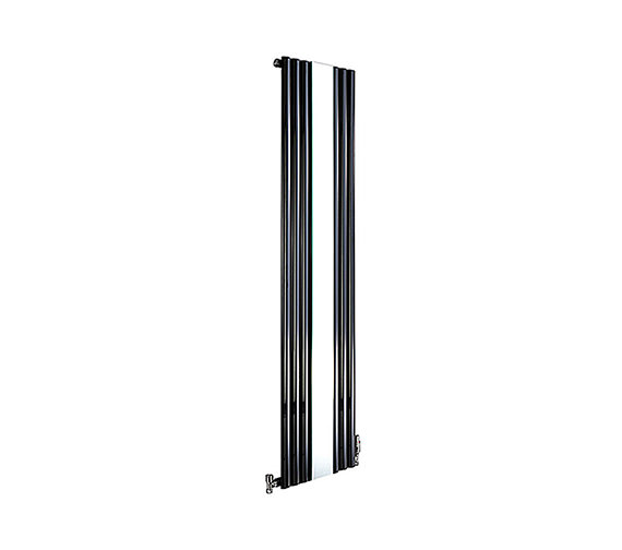 DQ Heating Cove Mirror Vertical Designer Radiator 382 x 1800mm Black