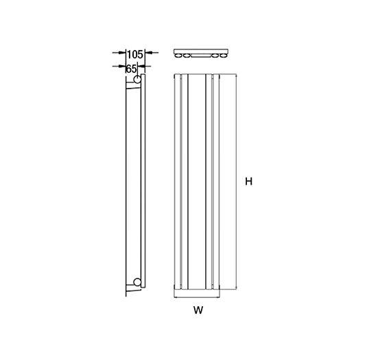 Technical drawing QS-V18158 / Cove M180/4