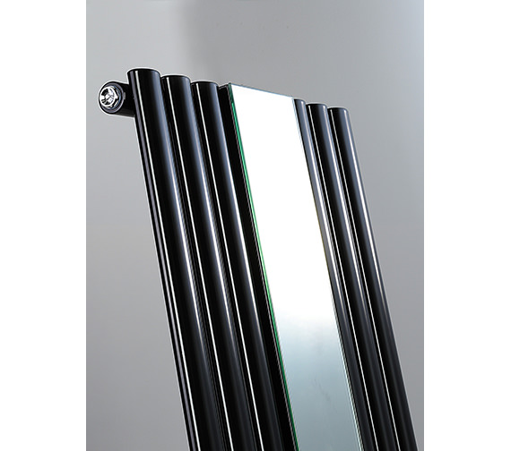 Dq heating cove mirror vertical radiator 382 x 1800mm for Mirror radiator