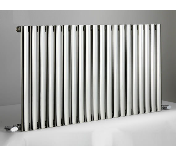 DQ Heating Cove 826 x 600mm Stainless Steel Single Horizontal Radiator
