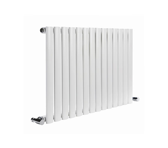 DQ Heating Cove 1180 x 550mm Single Sided Horizontal Radiator White