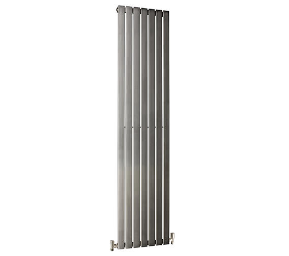 DQ Heating Delta 230 x 1600mm Brushed Stainless Steel Vertical Radiator