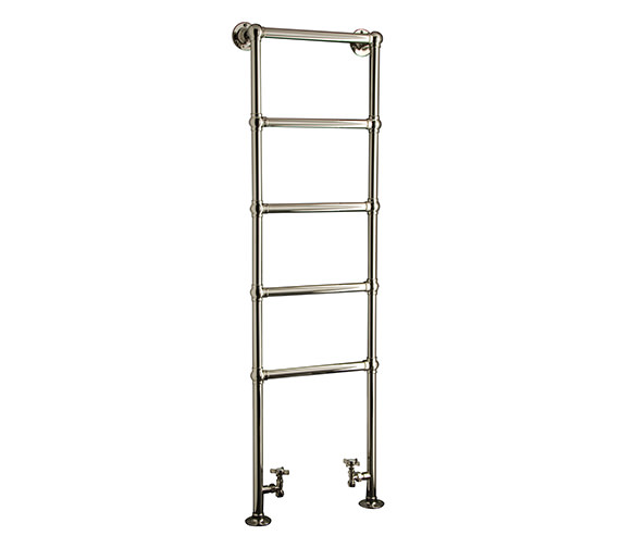 DQ Heating Elveden Floor Mounted Chrome Heated Towel Rail 846 x 1566mm