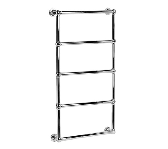 DQ Heating Elveden Wall Mounted Chrome Heated Towel Rail 846 x 1608mm