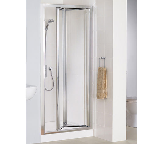 Lakes Classic Silver Framed Bi-Fold Door 900 x 1850mm - LK1B090S