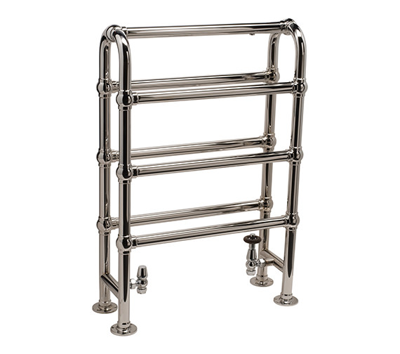 DQ Heating Hilborough Floor Standing Traditional Towel Rail 694 x 1032mm