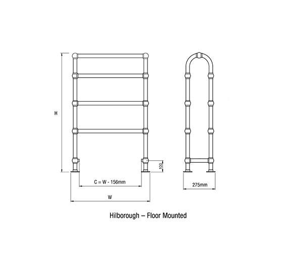Technical drawing QS-V56196 / HILBOROUGH-1-CP