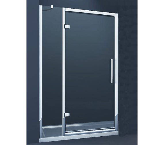 Merlyn 8 Series 900mm Hinge Shower Door With Single Inline
