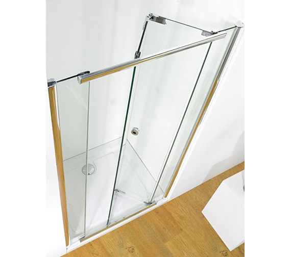 Kudos Infinite 900mm Bi-Fold Shower Door With Tray And Waste