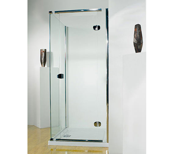 Infinite 1000mm LH Straight Hinged Shower Door With Tray And Waste