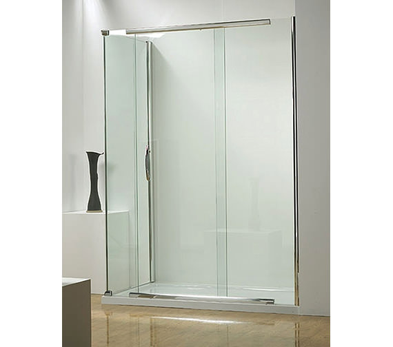 Additional image of Infinite 1500mm Straight Slider Door Side Access With Tray And Waste
