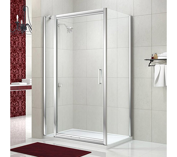 Merlyn 8 series 1000mm infold shower door with single for 1000mm shower door