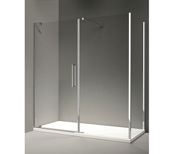 Additional image of Merlyn 10 Series 1400mm Pivot Door And Inline Panel - M101291C