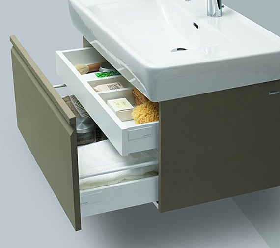 Additional image of Laufen Pro 1220mm 2 Drawer Vanity Unit Wenge With 2 Interior Drawer