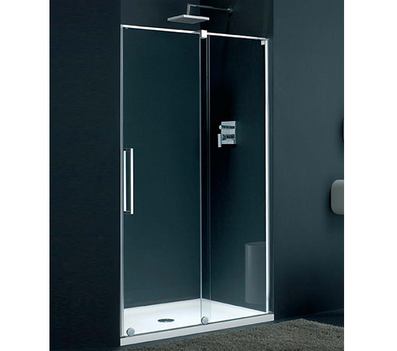 Lakes Italia Barletta Frame-less Right-Hand Sliding Shower Door 1400mm