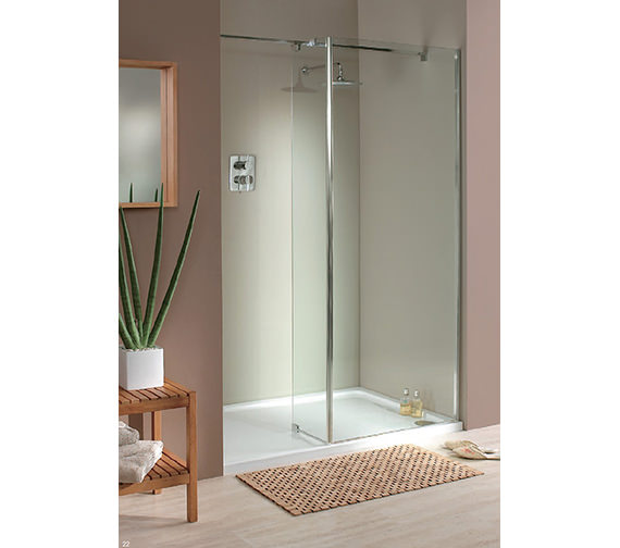 Lakes Italia Mileto Walk-In Shower Enclosure 1400 x 1000mm