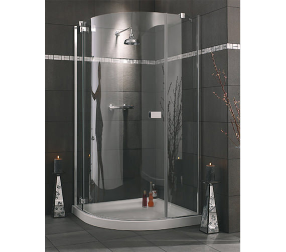 Lakes Italia Roma 900mm Frame-less Left-Hand Hinged Door Quadrant