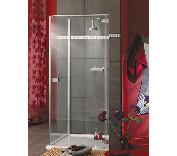 Lakes Italia Rosso Frameless Hinged Shower Door 900mm - Right Hand