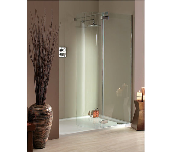 Lakes italia torino frame less hinged shower door 1400 x 750mm for 1400 shower door