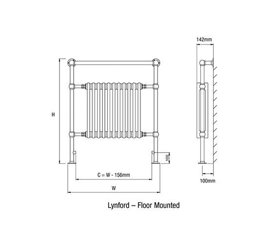 Technical drawing QS-V50147 / Lynford-3