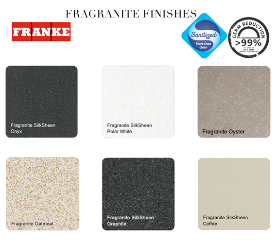 Additional image of Franke Pebel PBG 651 Fragranite Onyx 1.5 Bowl Inset Kitchen Sink