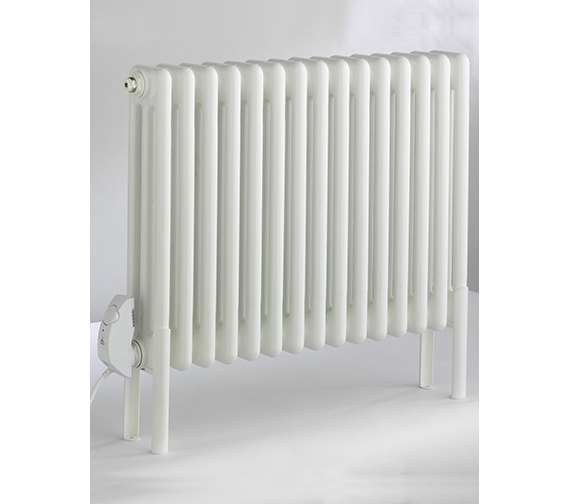 DQ Heating Peta Electric 4 Column Radiator 536 x 492mm White - 10 Sections