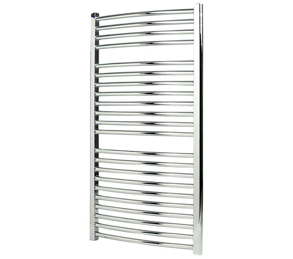 Apollo Napoli Curved Sealed Electric Towel Rail White 600 x 1100mm